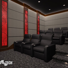 Contemporary Rendering by CinemaTech Theater Seating, Design & Acoustics