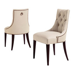 Ritz Dining Chair - Baker Furniture - This chair was inspired by the salon chairs of the 1940s. The perfect chair to mix with almost any wood frame dining chair or used alone.