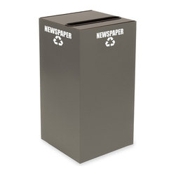Witt Industries - Witt Industries Geo Cubes 28 Gallon Charcoal Recycling Bin Multicolor - 28GC01-C - Shop for Recycling Bins from Hayneedle.com! The compact and fire safe steel construction of the Witt Industries Geo Cube 28 Gallon Charcoal Recycling Bin is perfect for encouraging people to start recycling. Designed to take up very little space this recycling bin comes with a lid to accommodate whatever you have in mind. Simply choose the lid that will work with your recyclables. All tops include clearly marked decals to keep other items from being thrown in and getting mixed up with the recyclables. This recycling bin holds up to 28 gallons and measures 15L x 15W x 28H inches.About Witt IndustriesWith its rich and established history in the steel waste receptacle manufacturing industry that dates back to 1887 Witt Industries has been in the forefront with its innovation quality and service. The company's founder George Witt invented and patented the first corrugated galvanized ash can and lid back in 1889 and the company has never looked back. Today Witt Industries is part of the Armor Metal Group and is a woman-owned business.