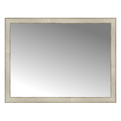 """Posters 2 Prints, LLC - 38"""" x 29"""" Libretto Antique Silver Custom Framed Mirror - 38"""" x 29"""" Custom Framed Mirror made by Posters 2 Prints. Standard glass with unrivaled selection of crafted mirror frames.  Protected with category II safety backing to keep glass fragments together should the mirror be accidentally broken.  Safe arrival guaranteed.  Made in the United States of America"""