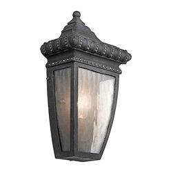 Kichler Lighting - Kichler Lighting 49130BKG Venetian Rain Black Outdoor Wall Sconce - Kichler Lighting 49130BKG Venetian Rain Black Outdoor Wall Sconce