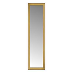 """Posters 2 Prints, LLC - 22"""" x 75"""" Arqadia Gold Traditional Custom Framed Mirror - 22"""" x 75"""" Custom Framed Mirror made by Posters 2 Prints. Standard glass with unrivaled selection of crafted mirror frames.  Protected with category II safety backing to keep glass fragments together should the mirror be accidentally broken.  Safe arrival guaranteed.  Made in the United States of America"""