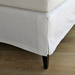 Linen Cotton Bedskirt - Bedskirts aren't just for show. Hide stuff out of sight behind these pretty, tailored linens.