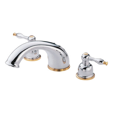 Danze - Danze D302555PBVT Polished Brass Roman Tub Trim - Danze D302555PBVT Polished Brass Roman Tub Faucet Trim Kit only is part of the Sheridan Bath collection.  D302555PBVT Roman Tub Trim requires Danze D210000BT or D215000BT rough-in valve.  Must order valve seperately.  D302555PBVT Two lever handles meets all requirements of ADA.
