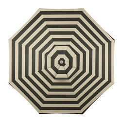 9-foot Auto Tilt Umbrella, Canopy Stripe Black & Sand Sunbrella - You are getting very, very sleepy. Now put down that iced tea and enjoy the fragrant spring breeze.