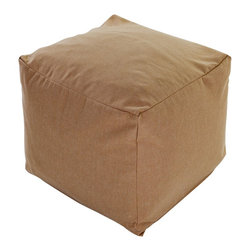 "Majestic Home Goods - Majestic Home Goods Wales Small Cube - ""Add style and color to your living room or bedroom with Majestic Home Goods Graham Wales Small Cube Ottoman. This cube is perfect for use as a footstool, side table or as extra seating for guests. Woven from 95% polyester/5% linen, these cube ottomans are durable yet comfortable. The beanbags are and feature a zippered slipcover. Spot clean slipcover with mild detergent and hang dry. Do not wash insert.17"""" L x 17"""" W x 17"""" H"""