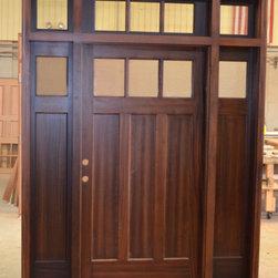 Craftsman wood doors - wood doors, entry doors, front doors, front entryways, craftsman style doors, traditional doors, mahogany doors