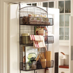 Behind the Door Wire Storage - Use that space behind your pantry door for storing oft-used accessories, freeing up valuable counter space.