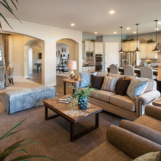 Transitional Family Room by Maracay Homes Design Studio