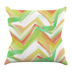"Kess InHouse - Alison Coxon ""Summer Party Chevron"" Throw Pillow (20"" x 20"") - Rest among the art you love. Transform your hang out room into a hip gallery, that's also comfortable. With this pillow you can create an environment that reflects your unique style. It's amazing what a throw pillow can do to complete a room. (Kess InHouse is not responsible for pillow fighting that may occur as the result of creative stimulation)."