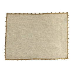 Artistica - Hand Made in Italy - BUSATTI: Placemat Zodiaco w/Lace (60% Linen+40% Cotton) BEIGE - BUSATTI: The pleasure and beauty of quality linens.
