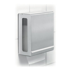Blomus - NEXIO Paper Towel Dispenser - Dispensing paper towels is not so easy a task. It takes smart design to keep the towels flowing smoothly. With the NEXIO Paper Towel Dispenser, you'll never need to wonder when to refill with its convenient side window. Constructed with smooth stainless steel in a modern, minimalist design.