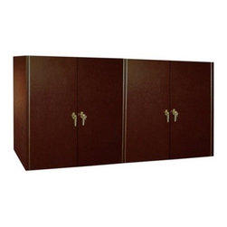 Vinotemp - VINO-400CRED-DRM Napoleon 400 Credenza Wine Cellar with Glass Doors  Dark Red Ma - Redwood and aluminum interior racking hold and protect each precious bottle of wine in 3-34 cubicles Heavy-duty insulation 1 16 R factor on the walls and doors and a magnetic gasket 360 around the door maintain the efficiency and integrity of your st...