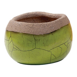 New Rustics - New Rustics Sedona Pottery Small Crackled Finished Pot -