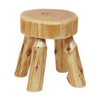 Fireside Lodge Furniture - Cedar Northern White Foot Log Stool (Vintage) - Finish: VintageCedar Collection. Northern White Cedar logs are hand peeled to accentuate their natural character and beauty. Clear coat catalyzed lacquer finish for extra durability. 2-Year limited warranty. 14 in. W x 14 in. D x 15 in. H (10 lbs.)