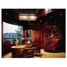 Mediterranean Home Office by Brion Jeannette Architecture