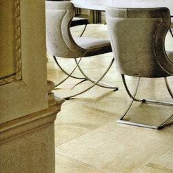 Porcelain Indoor and Outdoor Floor Tile -- Travertine -