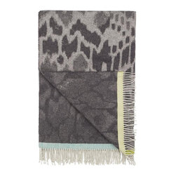 Designers Guild - Ansari Throw - Cozy up to this Merino Wool Throw. Features a neutral animalesque ikat pattern that you are sure to love!