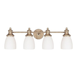 Capital Lighting - Capital Lighting 8204SA-238 Sable Ansley 4 Light Bathroom Fixture Vanity Light - Capital Lighting 8204SA-238 Ansley 4 Light Bathroom Vanity Fixture This product from Capital Lighting has a sable finish. For use with four 75-watt frosted