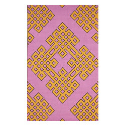 nuLOOM - Contemporary 5' x 8' Pink Hand Hooked Area Rug HK77 - Made from the finest materials in the world and with the uttermost care, our rugs are a great addition to your home.