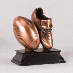 BA - 5 Inch Copper Football Leaning Against Athletic Shoe Display Statue - This gorgeous 5 Inch Copper Football Leaning Against Athletic Shoe Display Statue has the finest details and highest quality you will find anywhere! 5 Inch Copper Football Leaning Against Athletic Shoe Display Statue is truly remarkable.
