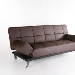 Abbyson Living Plush Leather Convertible Sofa -