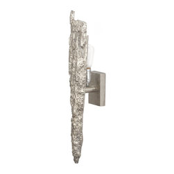 Lazy Susan - Lazy Susan 468016 Silver Bark Wall Sconce - Dare to be different with your lighting selection. This distinctive wall sconce — made to look like bark — is truly unique. You'll be the only one on the block with this one-of-a-kind design.