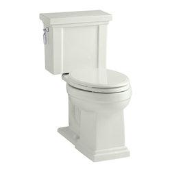 KOHLER - KOHLER K-3950-NY Tresham Comfort Height Two-Piece Elongated 1.28 GPF Toilet - KOHLER K-3950-NY Tresham Comfort Height two-piece elongated 1.28 GPF toilet with Class Five flush system and left-hand trip lever in Dune