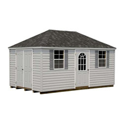 Fifthroom - Vinyl Siding Hip Roof Sheds -