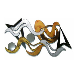 Alisa Diva - The Winds of Chi Large Handmade Wooden Wall Hanging - Billowy wisps and swirls rest amid geometric patterns to bring positive energy into any room where you choose to display this exciting wall art. Large piece is perfect for the entryway or foyer, or for hanging above the sofa or headboard. Detailed with tons of texture for added vigor and head-turning appeal. Each piece is individually handmade, handpainted, and signed by the artisan