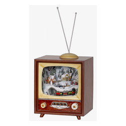 Winward Designs - TV Music Box - A popular item, this music box plays a mix of Christmas tunes. Play this all night long during Christmas Eve!