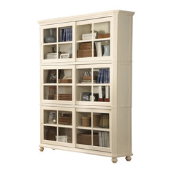 Homelegance - Homelegance Hanna Stackable Bookcase in White - Designed with versatility in mind, these Home Office Collections can be configured to accommodate any home office environment. With three base cabinet models and five desktop options, you can create a customized work environment perfectly fit in every corner. Small and large hutch options allow for vertical expansion of the collection. Auxiliary options include a lateral file cabinet and stacking bookshelves provide additional storage.