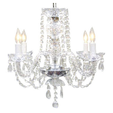 The Gallery - All-Crystal Chandelier - A great European tradition. Nothing is quite as elegant as the fine crystal chandeliers that gave sparkle to brilliant evenings at palaces and manor houses across Europe. This unique version from the royal collection features crystal arms is decorated with 100% crystal that captures and reflects the light of the candle bulbs, each resting in a scalloped bob ache. the timeless elegance of this chandelier is sure to lend a special atmosphere anywhere it is placed! Please note this item requires assembly.
