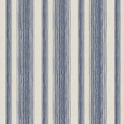 Graham & Brown - Twine Cornflower Wallpaper - Beautifully crafted, layers of twine are laced with mica to create this easy living organic stripe wallpaper.