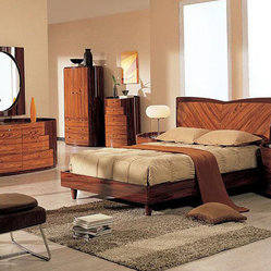 Stylish Wood Platform Bedroom Sets with Extra Storage