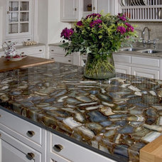 Transitional Kitchen Countertops by Fiorano Tile Showrooms
