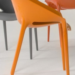 """Kartell - Dr. Yes Chair (Set of 2) - Dr. Yes is a uniquely styled chair manufactured from a highly resistant material making it ideal for outdoor use. The body has square lines, curving slightly downward to provide roomy and surrounding space. It is made of modified polypropylene, using gas injection technology. The chair's finish is opaque inside, with a soft and comfortable touch, while the surface of the back and legs is glossy. Dr Yes offers solid, comfortable seating, easy cleaning and a broad range of colors. Features at a Glance:Dr. Yes Chair Features: -Made of modified batch-dyed polypropylene. -Stackable up to six chairs high. -Suitable for indoor or outdoor use. -Made in Italy. Dimensions: -31.5"""" H x 20.5"""" W x 19.66"""" D. -Seat Height: 18.5"""" W. Quality: -In 2005, Kartell received accreditation for its Quality Management Systems according to the ISO 9001: 2000 standard. The attainment and preservation of this certification testifies to Kartell's commitment to high quality and continued research into higher levels of quality in company management systems. Helping the Environment: -Kartell products use a wide variety of plastic materials, thereby reducing the use of living organisms, such as trees, which are difficult and time-consuming to replace. -Most Kartell products are easily recycled and product components can be separated to elements made of a single material to simplify the recycling process. Plastic components also carry clear identification marks to aid correct separation of different plastic types for effective recycling. Care and Maintenance: -Kartell products are easy to clean and require only simple care to remain in excellent condition. Order with Confidence: -Authentic Kartell products guaranteed to be free from defects in materials and workmanship for a period of 12 months under normal use and under conditions for which the items were designated. -Should you discover shortly after receiving your Hi Cut Chair that parts are either damaged or mi"""