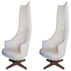 Contemporary Chairs Adrian Pearsall Chairs Swivel High Back Chairs by Craft Associa