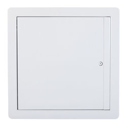 """Best Access Doors - Fire Rated Insulated Upward Opening Ceiling Door, High Quality White Powder Coat - 22"""" x 36"""" Fire Rated Insulated Upward Opening Ceiling Door .  BA-PFU access hatch is designed to be installed on fire rated ceilings only. It can easily replace spring loaded models like the PFI. Its door which does not exceed 89 degrees of upward opening, falls back by law of gravity into its locked position as required by fire certification strandards. Holding the door open while climbing through it becomes much easier with no springs to deal with. The largest fire rated PFU available is: (24""""   x 36""""   or 864 sq inches).BA-PFU fire rated access Panel specifications,  Submittal Sheet - Material: 16 gauge cold rolled steel frame and 20 gauge galvanneal steel door Insulation: mineral wool Hinge: Continuous piano hinge allows opening to 89 deg  Lock / latch: Self latching ring operated slam latch inside and a hex head slam latch outside Finish: DuPont high quality white powder coat Fire Rating:     For horizontal ceiling assemblies only   Rating: 3 hours for non-combustible assembly and 1 hour for combustible assembly: Temperature rise: Max 250 deg F/139 deg C at 30 mins, 450 deg F/250 deg C at 60 mins. Maximum door size: 24"""" x 36"""" or 864 sq inches (see note)*Standards listed: NFPA 252-2003, UL 10b, UL-555, CAN/ULC S112 M90-R2001, CAN/ULC S104-10. MEA # 507-06-M Fire rated by  Intertek - Warnock Hersey    * Note: Maximum door size 24"""" x 36"""" can also be calculated by multiplying the surface area of the door (24""""x36""""). The maximum surface area is 864 sq inches. The maximum height or width is 36"""". All door sizes equal or smaller than 864 sq inches fall within the standards. Ex. Door size of 28"""" x 28"""" = 784 sq inches. /p>"""