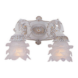 Crystorama - Crystorama 5222-AW Paris Flea Market 2 Light Wall Sconces in Antique White - Paris Flea Market offers casual yet elegant, whimsical and chic chandeliers, wall sconces, and ceiling mounts.