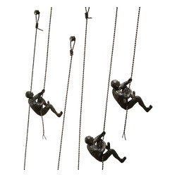 """Climbing Man-Wall Mounted - Hangs with a screw directly into wall. 4.5""""W x 43""""H x 6.25""""Deep.(Each sold separately)"""