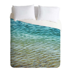 DENY Designs - DENY Designs Shannon Clark Ombre Sea Duvet Cover - Lightweight - Turn your basic, boring down comforter into the super stylish focal point of your bedroom. Our Lightweight Duvet is made from an ultra soft, lightweight woven polyester, ivory-colored top with a 100% polyester, ivory-colored bottom. They include a hidden zipper with interior corner ties to secure your comforter. It is comfy, fade-resistant, machine washable and custom printed for each and every customer. If you're looking for a heavier duvet option, be sure to check out our Luxe Duvets!
