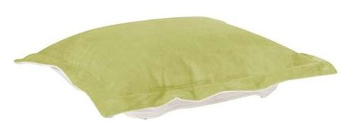 Howard Elliott Mojo Kiwi Puff Ottoman Cushion - Extra Puff cushions in Mojo are a great way to get a fresh new look without the expense of buying a whole new ottoman! Puff cushions fit Scroll ottoman frames. This Mojo cushion features a suede-like texture in a vibrant kiwi green color.