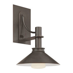 Sonneman - Sonneman 1-Light Bridge Small Sconce, Textured Rustic Bronze - 4903-31 - -Product Finish: Textured Rustic Bronze