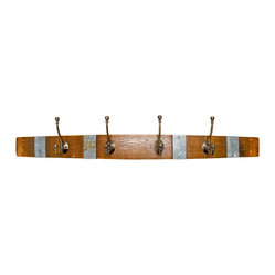 Banded Wine Barrel Coat Rack