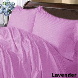 SCALA - 600TC Stripe Lavender Full XL Flat Sheet & 2 Pillowcases - Redefine your everyday elegance with these luxuriously super soft Flat Sheet . This is 100% Egyptian Cotton Superior quality Flat Sheet that are truly worthy of a classy and elegant look.