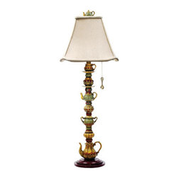 Dimond Lighting - Dimond Lighting 91-253 Tea Service Candlestick 1 Light Table Lamps in Burwell - Tea Service Candlestick
