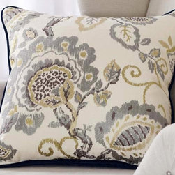 Royal Garden Pillow - embroidered front