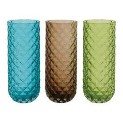 Benzara - Elegant and Beautiful Style Glass Clear Vase Home Accent Decor - Description: