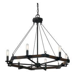 CAL Lighting - Cal Lighting FX-3533/6 6 Ltg Black Smith Metal/Resin Chandelier - CAL Lighting FX-3533/6 6 LTG Black smith metal/resin chandelier